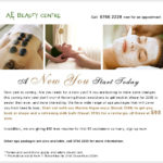 Beauty Center Email Blast